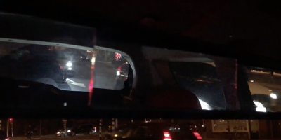 5-panel rearview mirror at night
